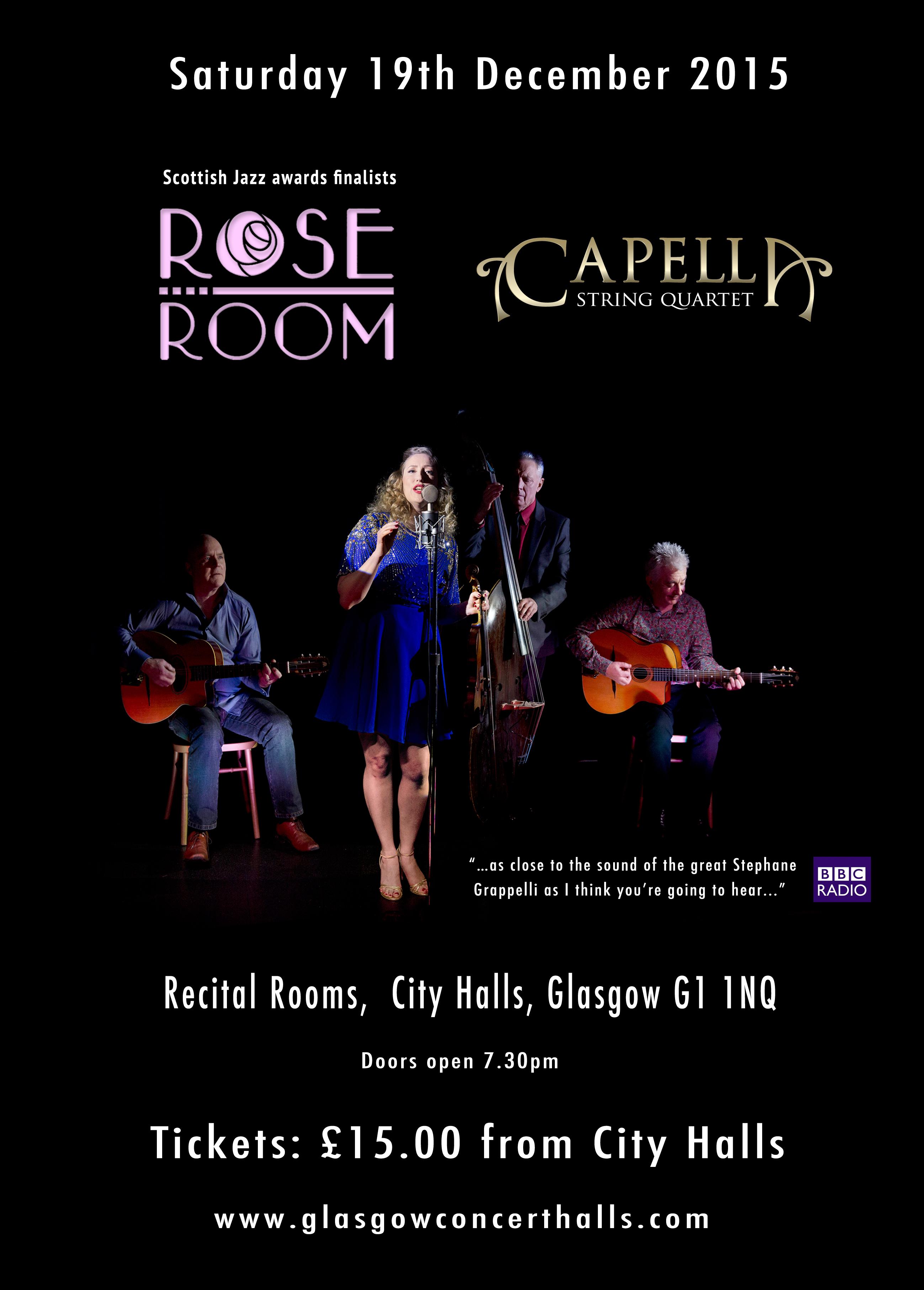 Rose Room with Capella String Quartet 2015